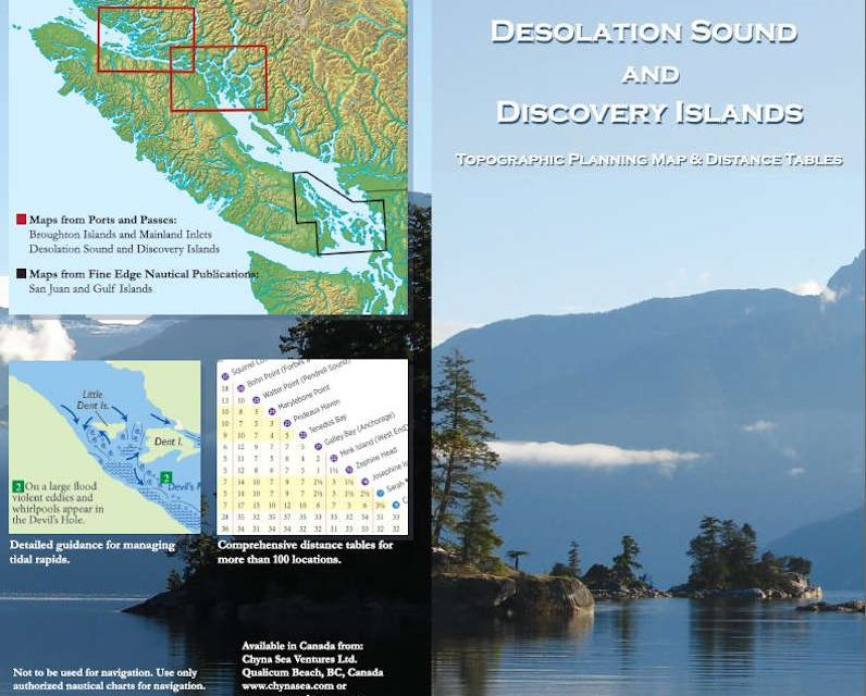 New Desolation Sound and Broughton Islands Planning Maps from Ports and Passes