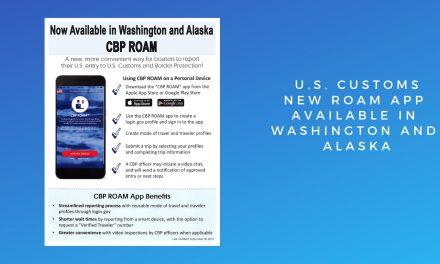 U.S. Customs – New ROAM App Available in Washington and Alaska