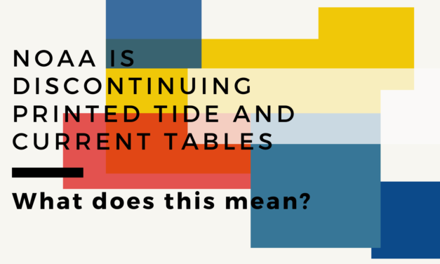NOAA is discontinuing printed tide and current tables
