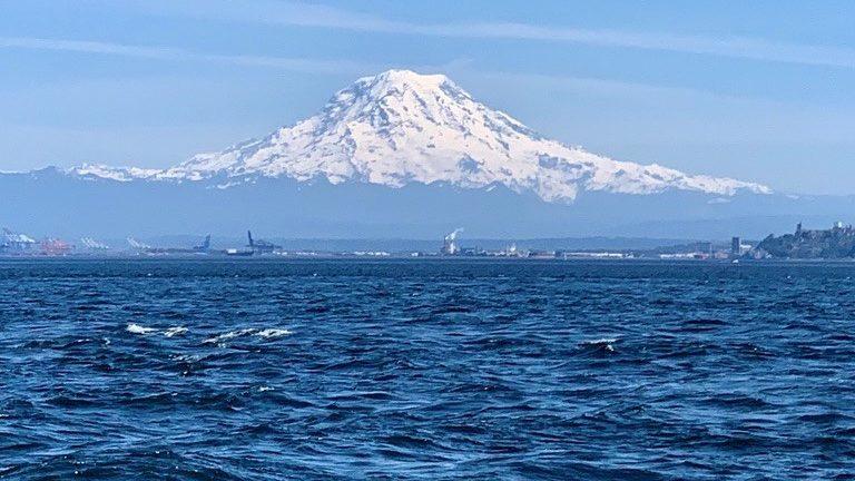Mt Rainier as viewed from Tacoma, WA