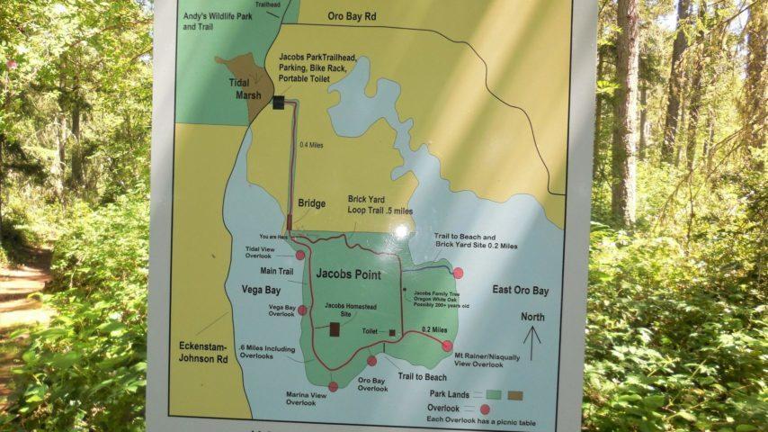 Trail Map at Oro Bay